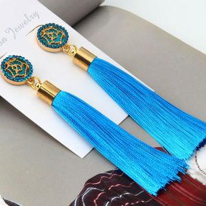 💖 Long Exaggerated Silk Fabric Dangling Earrings